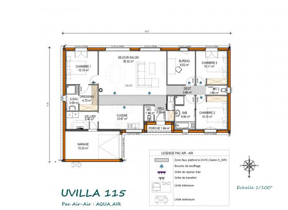 Plan Uvilla - 115 m² Aqua Air